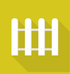 Round white barrier icon flat style vector