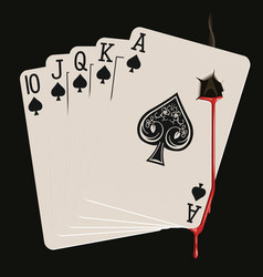royal flush bleeding vector image