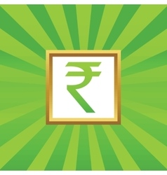 Rupee picture icon vector