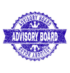 Scratched textured advisory board stamp seal with vector