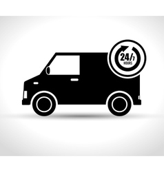 service delivery 24-7 business grpahic vector image