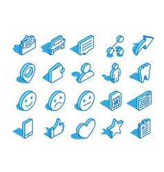 set of web isometric icon thumb up wallet user vector image