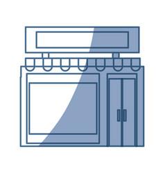 shop store building vector image