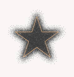 silhouette a five-pointed star black glitter vector image