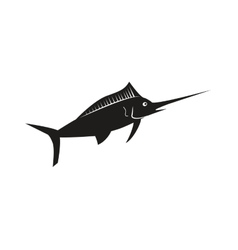 Single swordfish icon vector