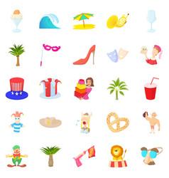 Solemnization icons set cartoon style vector