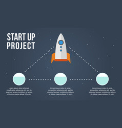 Start up project style business infographic vector