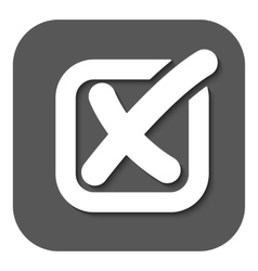 The check icon Checkmark and checkbox no voting vector image