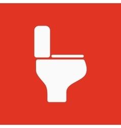 The toilet icon Restroom symbol Flat vector image