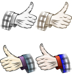Thumb up set vector image