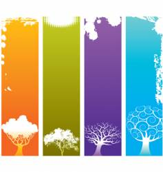 tree grunge banners vector image