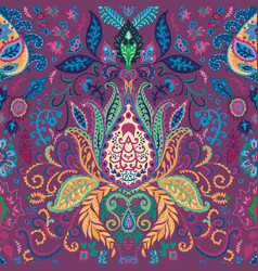 trippy abstract floral pattern with vivid lotus vector image