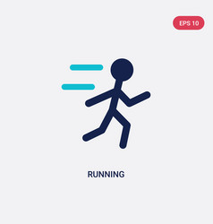 Two color running icon from health concept vector