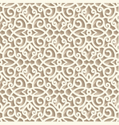 vintage lace ornament seamless pattern vector image