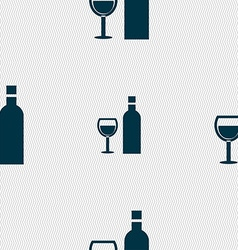 Wine Icon sign Seamless pattern with geometric vector image