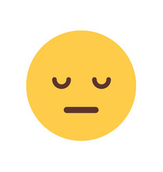 Yellow cartoon face sad upset emoji people emotion vector