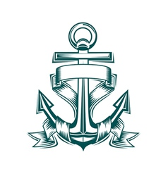 anchor tattoo vector image vector image