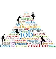 Business people climb job rat race work vector