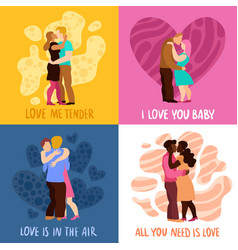 love hugs design concept vector image vector image