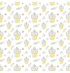 Seamless pattern of elements drawn vector