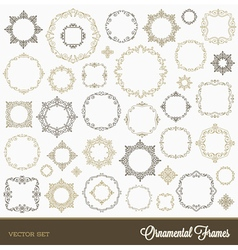 Set of flourishes ornament frames vector image vector image