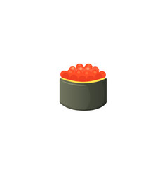 traditional japanese sushi and roll asian seafood vector image