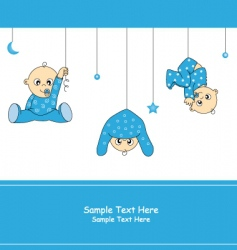 baby boy playing vector image