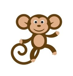 Happy cartoon monkey vector image