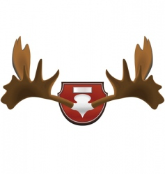 hunting trophy vector image