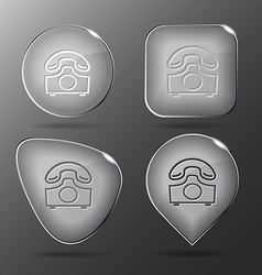 Old phone glass buttons vector