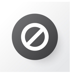 ban icon symbol premium quality isolated vector image