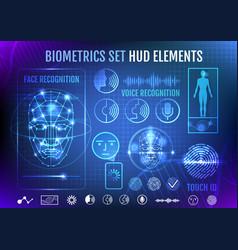 biometrics set hud elements vector image