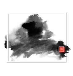 dark banner black spots on the wet ink vector image vector image