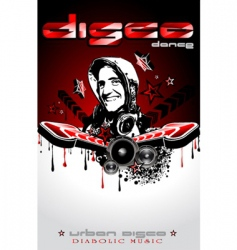 discotheque Dj event flyer vector image vector image