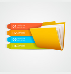infographics documents folder with data vector image