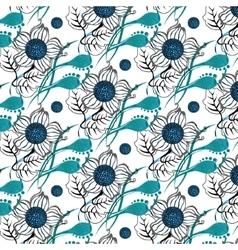 Repeating modern floral background pattern vector
