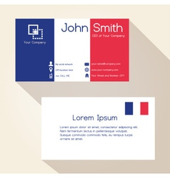 simple france colors business card design eps10 vector image
