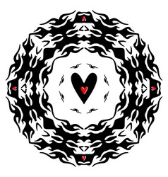 Template for tattoo and design in the form of the vector image vector image
