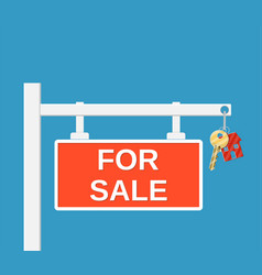 wooden placard for sale sign vector image vector image