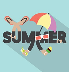 Concept Of Summer Typography Design vector image vector image