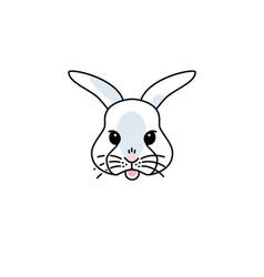 cute bunny icon vector image