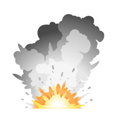 ground bomb explosion vector image vector image