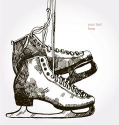 retro skates vector image vector image