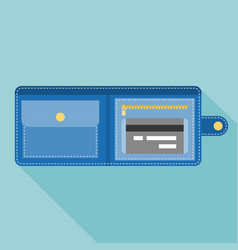 wallet with credit card vector image