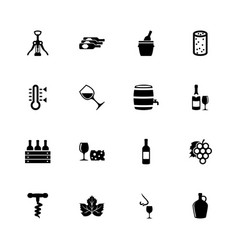 wine - flat icons vector image