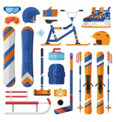 Winter Sport Equipment and Gear vector image vector image