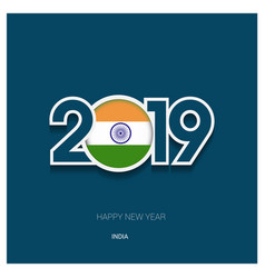 2019 india typography happy new year background vector