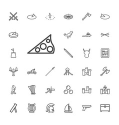 33 ancient icons vector