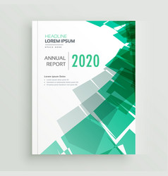 Abstract green business book cover page or vector