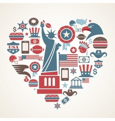 America love vector image